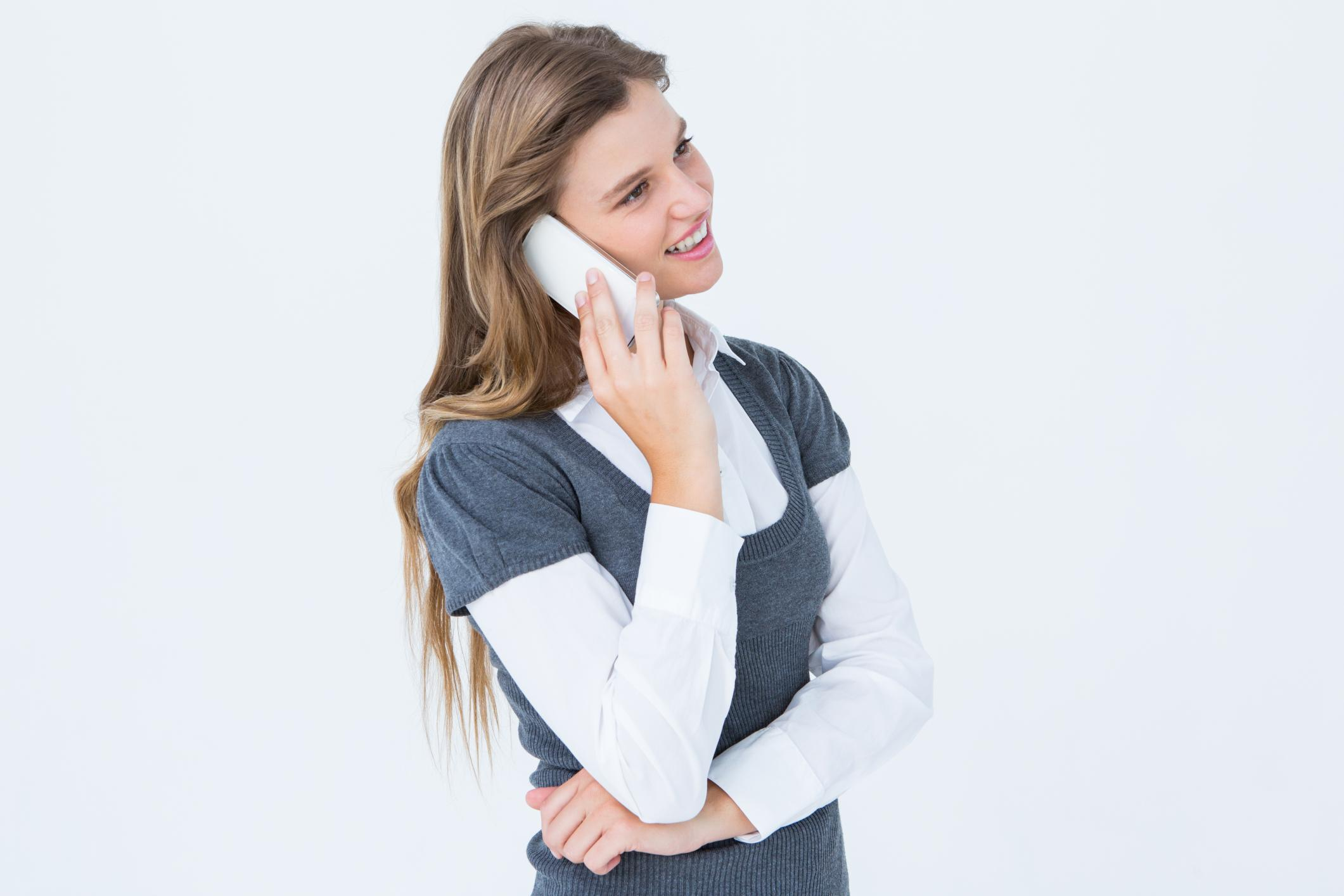 This is a picture of a girl having a phone call.